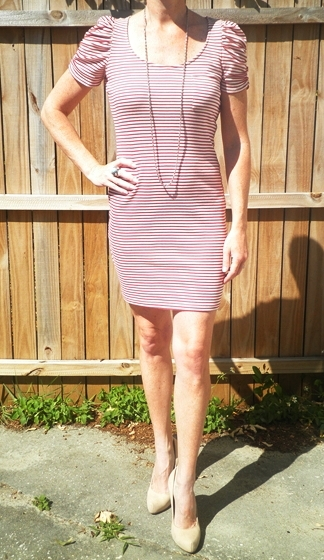 MS-REDWhiteStripeDress