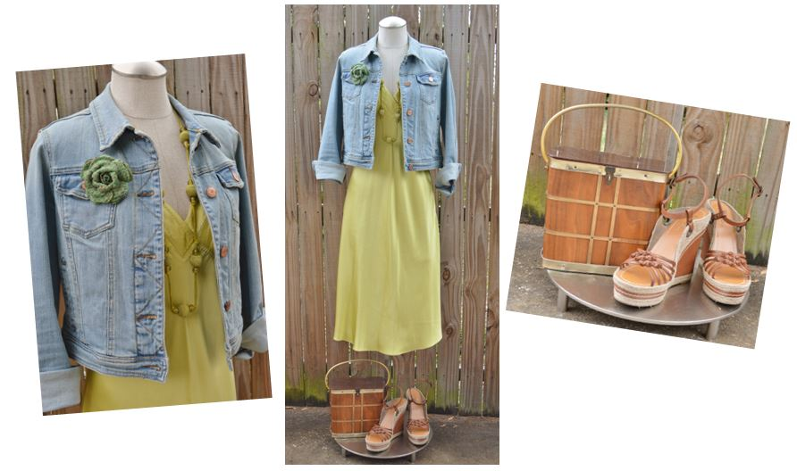 CM Citron Silk Dress Day Look