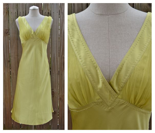 Catherine Malandrino Citron Silk Dress