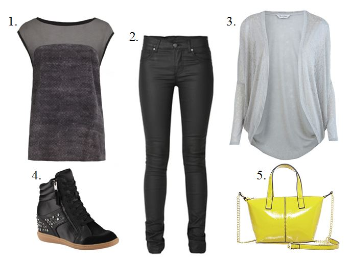 Black Wedge Sneakers Look