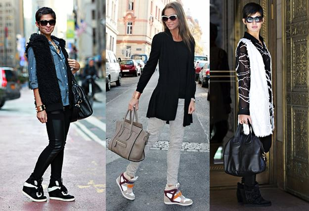 Black Wedge Sneakers Street Style Cluster
