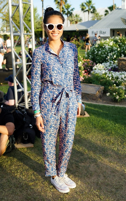 Printed Jumpsuit at Coachella