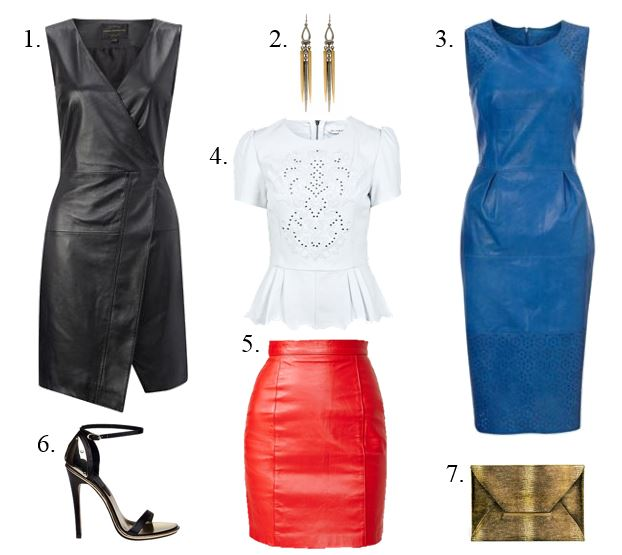 Spring 2013 Trend- Leather dresses, skirt, top