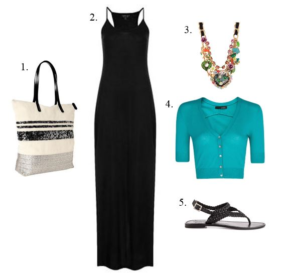 The Black Maxi Dress Ensemble1