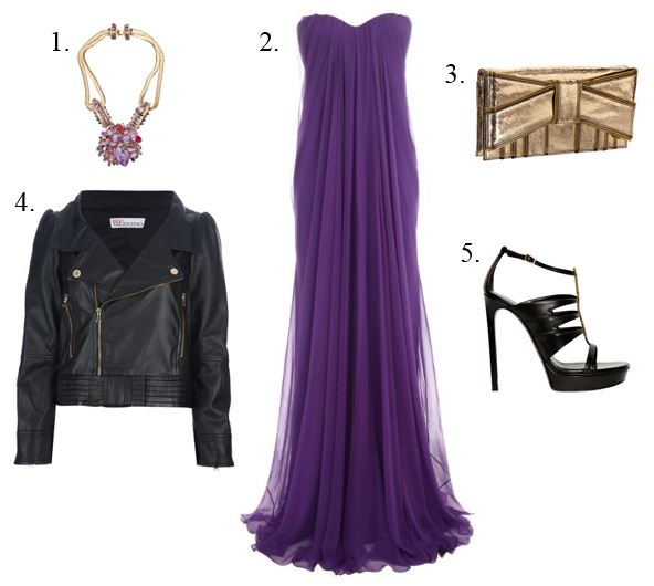 Biker Jacket Ball Gown Ensemble