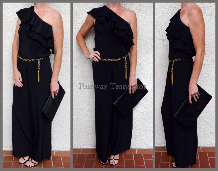 Black One Shoulder Jumper