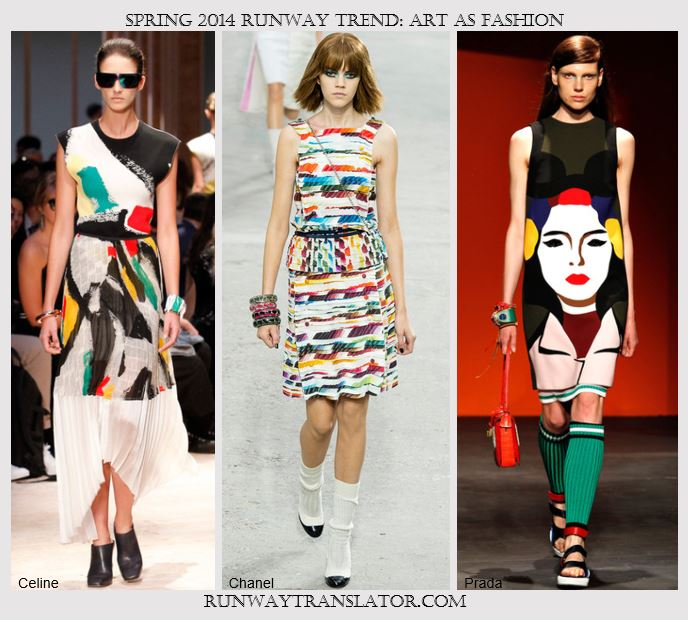 Spring 2014 Runway Trend- Art as Fashion