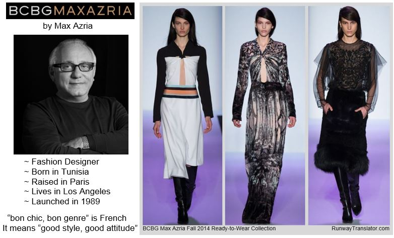 BCBGMAXAZRIA by Max Azria- Fall 2014 RTW at NYFW
