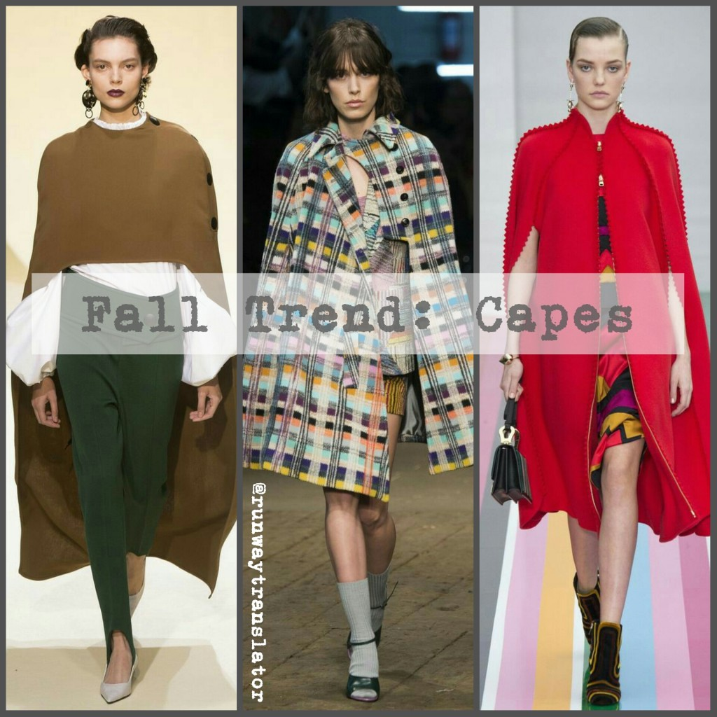 Cape Fall Fashion Trend
