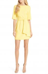 Alice + Olivia Yellow Mini Dress Nordstrom