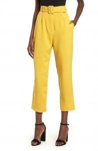 WAYF Yellow Crop Pant Nordstrom